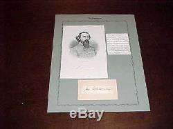 1800s Confederate John Calvin Brown Autographed Signed Cut Civil War Tennessee