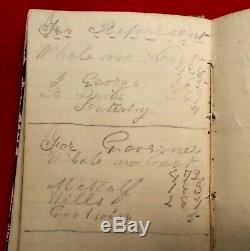 1856 Mass. Diary Pre-Civil War Pencil & Ink entries 1 1862 entry with Transcribe