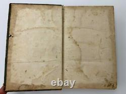 1859 ANTIQUE AMERICAN BIBLE SOCIETY Leather Civil War Old New Testament ABS