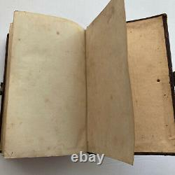 1860 BIBLE BY AMERICAN BIBLE SOCIETY Civil War Era Embossed Leather, Small