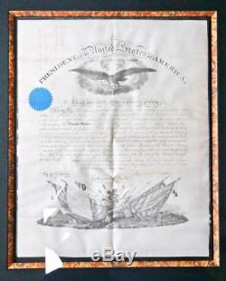 1863 Abraham Lincoln SIGNED Signature Civil War Military Commission 36x30