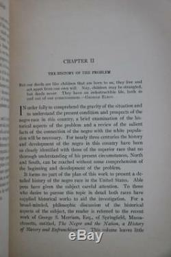 1909 1stED The Negro Problem Abraham Lincoln's Solution Civil War Slavery Fine