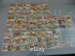 1962 Original Topps Civil War News Cards Lot of 63 Includes #1,2,3 Various Cond
