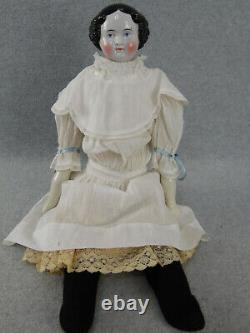 20 antique Civil War German China shoulder head Doll with cloth body 1850s/1860