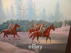 24x30 original oil painting by Dick Lopeman of Civil War Confederate Army