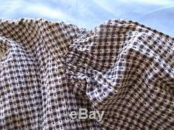Antique CIVIL War Dress Wrapper Calico Brown Cotton Print All Authentic Country