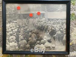 CIVIL WAR ORIGINAL PHOTO 1901 reunion Fort Royal VA-Braxton Bragg-By Robinson
