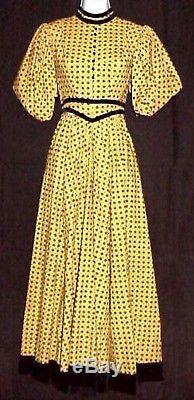 CIVIL WAR WESTERN FRONTIER 1880s PERIOD DRESS EXCELLENT WESTERN COSTUME COMPANY