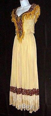 CIVIL War 1800's Period Satin Gown Beads Sequins Western Costume Company
