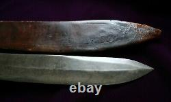 CIVIL War Confederate Large Bowie Knife Collection Of Lewis Leigh Of Virginia