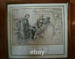 CIVIL War Dated Abraham Lincoln Note Signed 30 Days Before His Assasination Psa