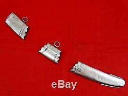 COIN SILVER SCABBARD PARTS FITTINGS AMERICAN EAGLE HEAD SWORD before Civil War