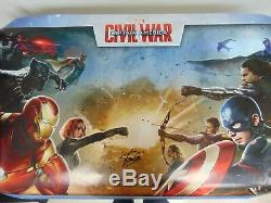 Captain America-Civil War Stan Lee Hand Signed 22X34 Poster Authenticated