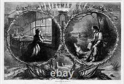 Christmas Eve 1863 CIVIL War Santa Claus Presents Soldiers And Kids Thomas Nast