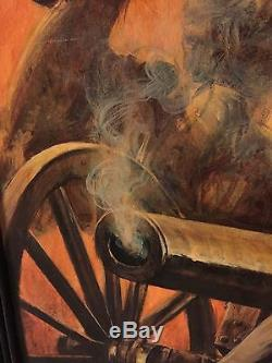 Civil War Confederate Calvary Illustration Oil painting By Guy Deel. Signed