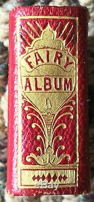 Civil War Era Gem Fairy album 22 tintypes in Red leather gilt clasp binding