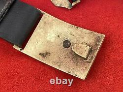 Civil War Indian Wars Officers Leather Belt With Eagle Buckle, Holster, Pouches