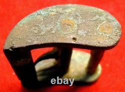 Civil War Medical Kit Tourniquet Buckle Teeth Bent from Extreme Movement of Woun
