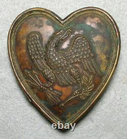 Civil War Relic Heart-Shaped Lead-Filled Eagle Martingale