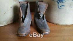 Difficult To Find CIVIL War Era 1860's Boys Leather Boots. Aafa