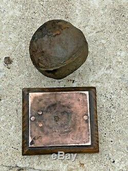 English CIVIL War Cannonball 1644 From Sheffield Castle On Stand, Original