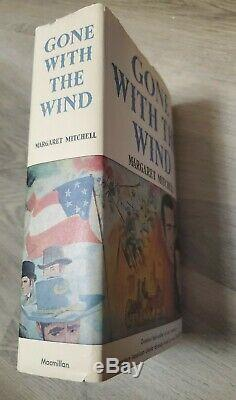 GONE WITH THE WIND BY MARGARET MITCHELL, 1936, Hardcover DJ Book Club Edition