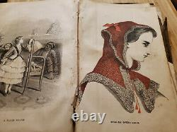 Godeys Ladys Book July to December 1863 ColorFashion Plates Civil War As Found