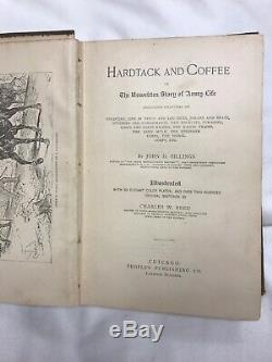 HARDTACK and COFFEE Book 1887 ARMY LIFE CIVIL WAR SOLDIER BATTLE
