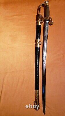 Investment Grade Civil War M1852 Ames Naval Officers Sword MINT Early Production