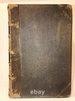 LEATHER ABRAHAM LINCOLN! (FIRST EDITION/FIRST PRINTING 1866!) CIVIL WAR Gift