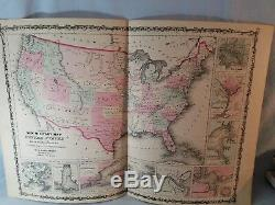 Original 1862 New Military Map Of The United States Showing Forts Civil War NR