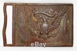 Original Civil War NY Eagle Calvary Belt Plate Buckle Numbered