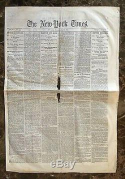 Original End Date Of The CIVIL War New York Times Newspaper May 9,1865