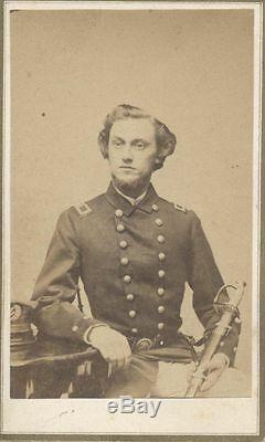 PORTRAIT OF CIVIL WAR NAVAL OFFICER IN UNIFORM With SWORD -NEW YORK CITY ORIGINAL
