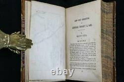 Rare 1870 Life and Campaigns of General Robert E. Lee Civil War Foldout Maps