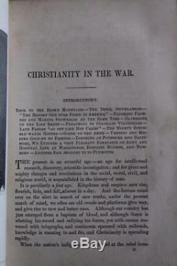 Rare 1872 1stED From The Flag To The Cross Christianity In The Civil War Slavery