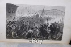 Rare 1880 Pictorial Field Book of the Civil War Lossing Illustrated Leather