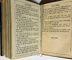 THE PROVERBS 1862 American Bible Society CIVIL WAR NEW YORK Leather Pocket Book