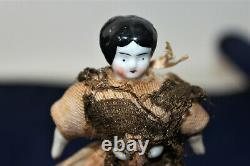 Vintage-3-1/2 Civil War Doll China Head, feet, and hands